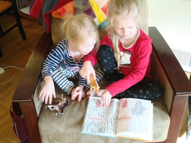 reading together. unexpected learning.