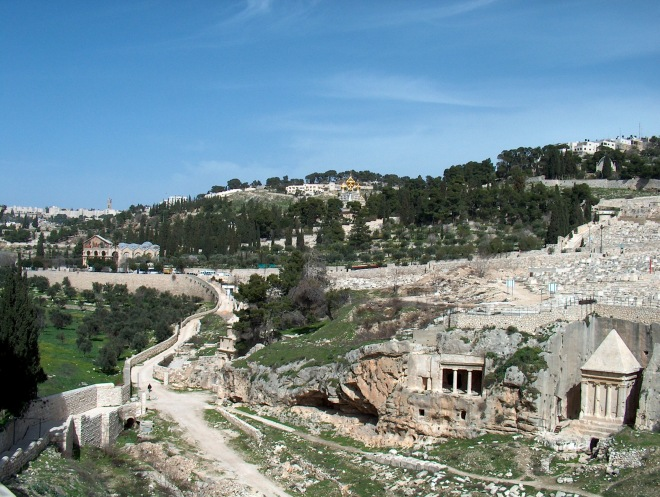 Kedron Valley/Mount of Olives photo courtesy of Henrik Bernhard (stock.xchng)