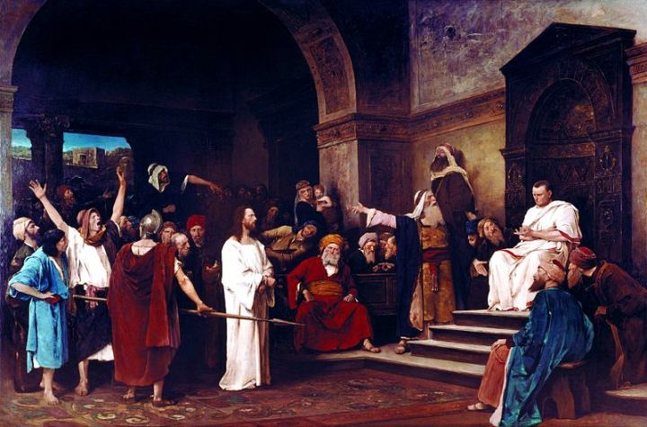 Jesus before Pilate {From Wikimedia Commons, the free media repository}