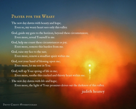 Prayer For The Weary